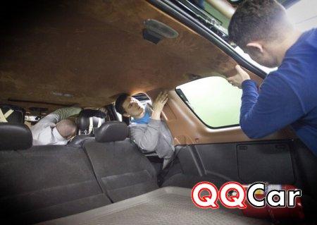 Перетяжка потолка автомобиля своими руками — видео