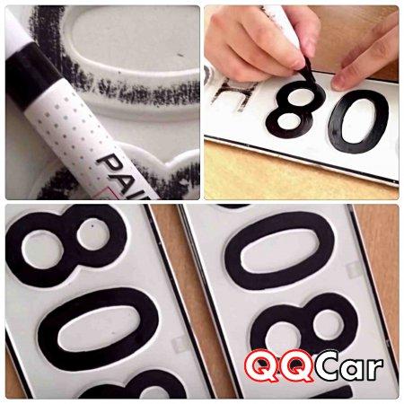 Как выкрасить номерной символ кара родными руками
